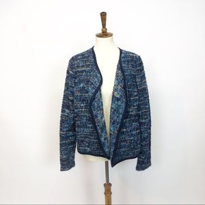 Blue Tweed Sweater TRACY REESE  Anthropologie